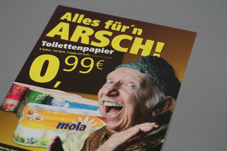 veb-mailing-kacke-arsch-corporate-design-sonderposten-gestaltung-markt