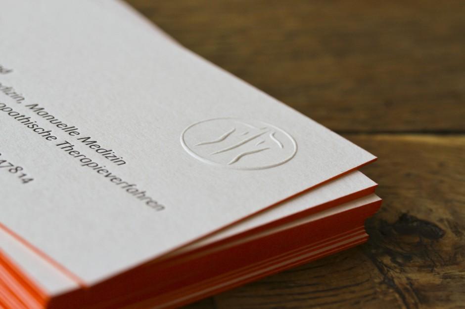 Letterpress Visitenkarte 3bke Büro Für Markenentwicklung