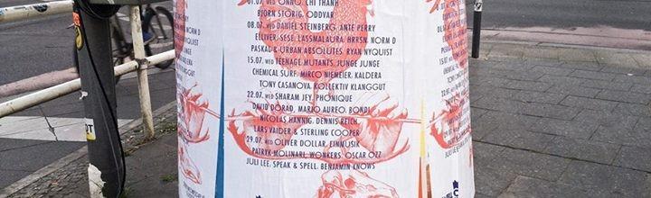 Typische Plakatierung in Berlin