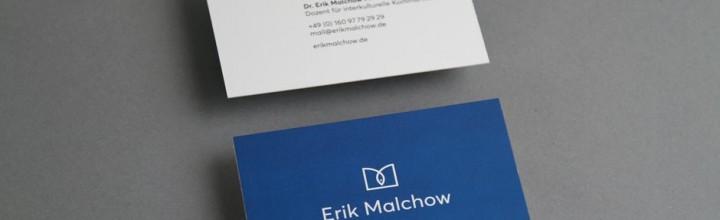 Corporate Design / Visitenkartengestaltung – Malchow