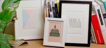 Postkartengestaltung / Illustration für 24COLOURS